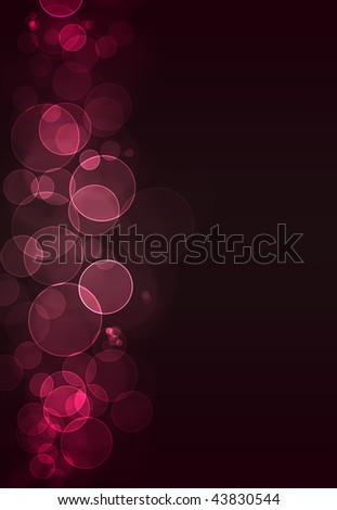 Colorful pink bokeh burst background - stock photo