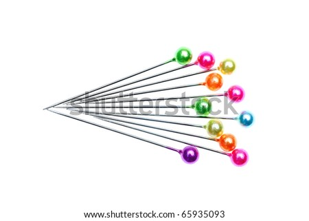 Colorful pins - stock photo