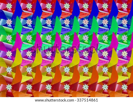 Colorful pinwheel as a colorful background