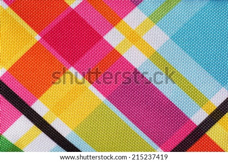 Colorful plaid pattern background - stock photo