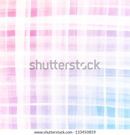 Colorful plaid watercolor. Hand painted brush strokes background - stock photo