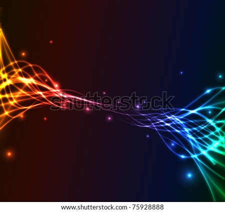 Colorful plasma abstract vector background - stock photo