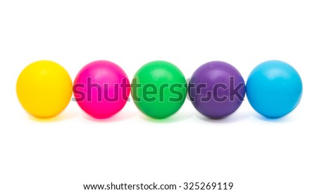 Colorful plastic ball toy