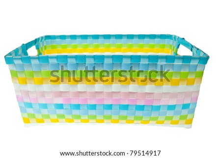 Colorful plastic basket - stock photo