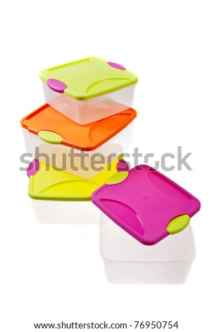 colorful plastic container for storing food