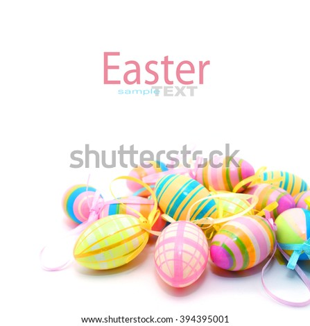 Colorful Plastic Easter Egg isolated on white background