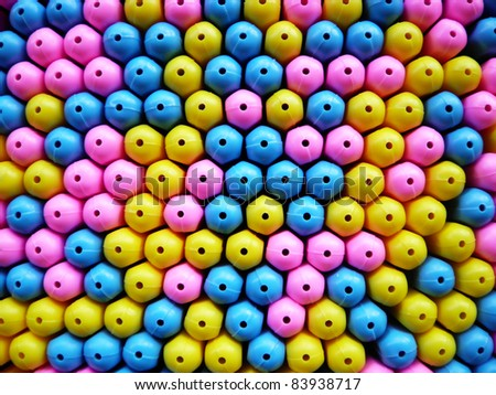 Colorful plastic pen tube texture background surface