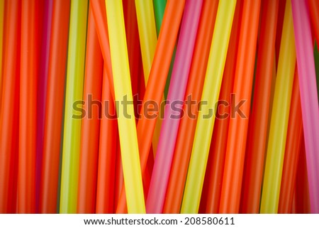 Colorful plastic straw background