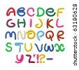 Colorful plasticine alphabet - stock photo