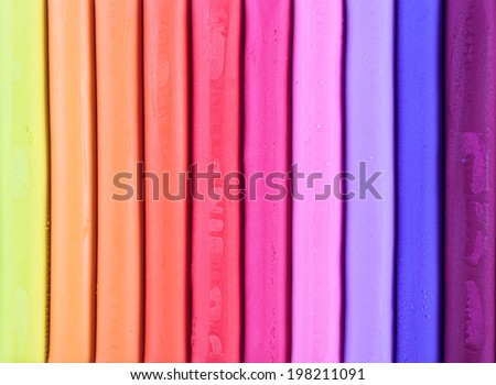 Colorful plasticine play dough modeling clay - stock photo