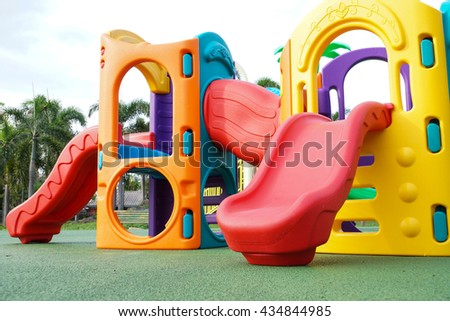 Colorful playground for kids - stock photo