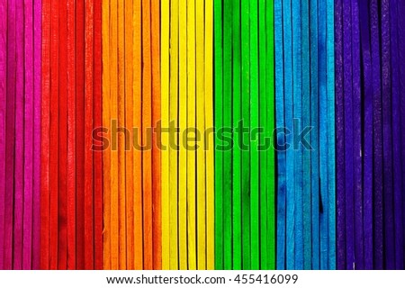 Colorful popsicle sticks.