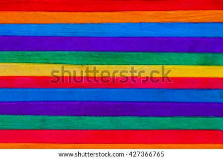 Colorful Popsicle sticks background.