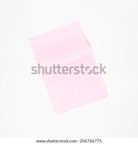 Colorful post it paper note in white background