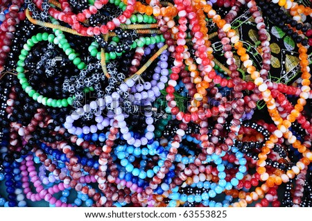 colorful prayer-beads as a background - stock photo