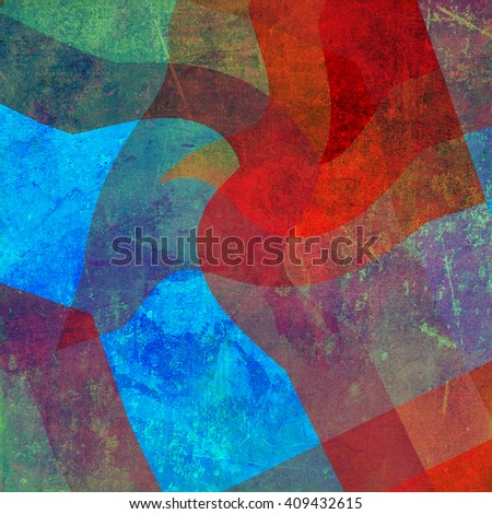 Colorful psychedelic background made of interweaving curved shapes. Illustration. Grunge background