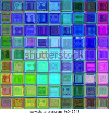 colorful psychedelic mosaic - stock photo