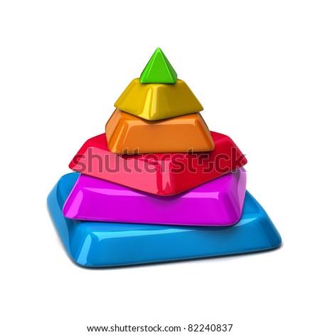 Colorful Pyramid - stock photo