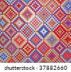 Colorful quilt detail - stock photo