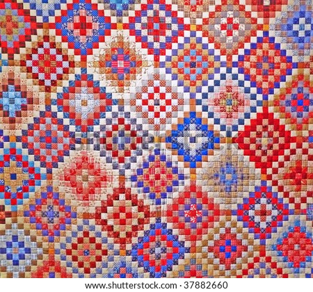 Colorful quilt detail