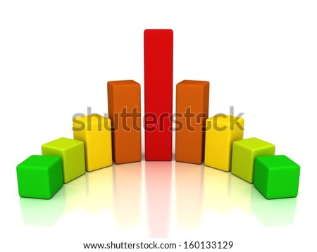 colorful rainbow finance successful bar chart diagram