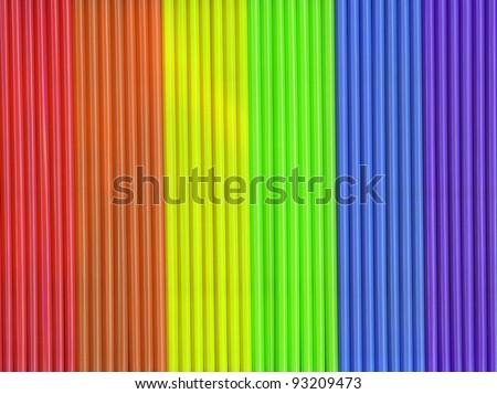 Colorful Rainbow Selection of Drinking Straws for your background - stock photo