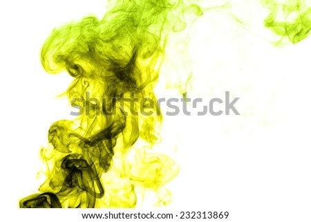 Colorful rainbow smoke,Smoke fragments on a white background