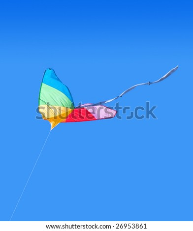 Colorful rainbow solo kite