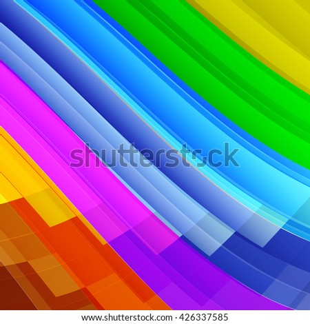 Colorful rainbow striped abstract background.