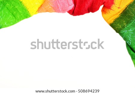 Colorful (Rasta colors)chintz Isolated white background