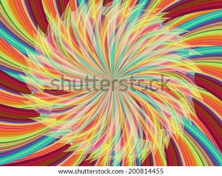 Colorful ray abstract background - stock photo