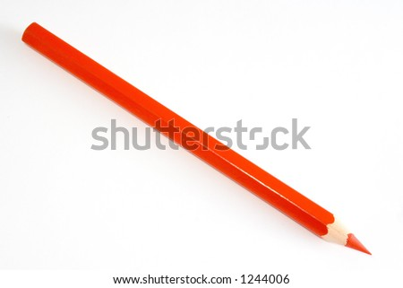 Colorful red pencil ISOLATED