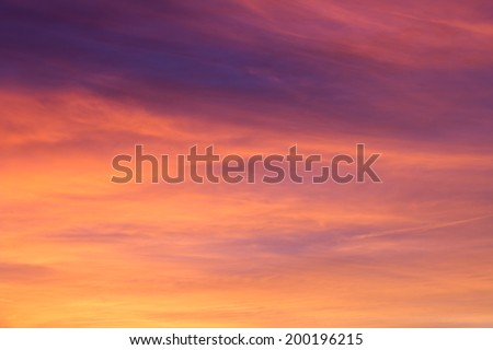 Colorful Red Sky Background - stock photo