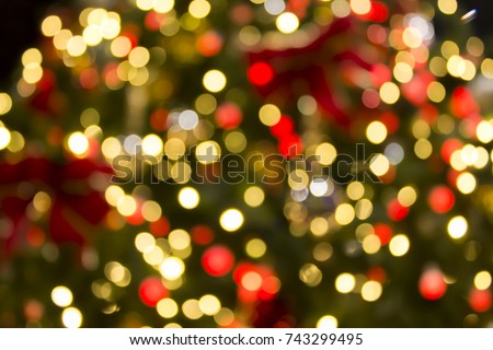 Bokeh stock images royalty free images vectors for Red and yellow christmas tree