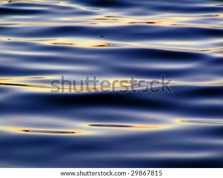 Colorful reflection in waves