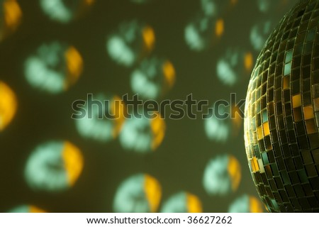 Colorful reflection of an disco ball - stock photo
