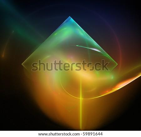 Colorful  rendered fractal design - stock photo