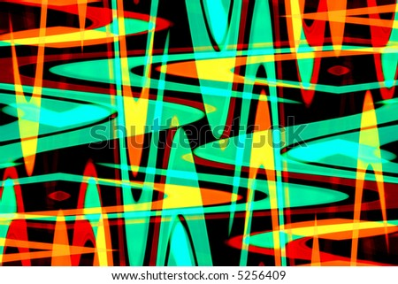 Colorful retro abstract - stock photo