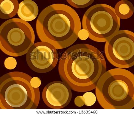 Colorful Retro Circles - stock photo