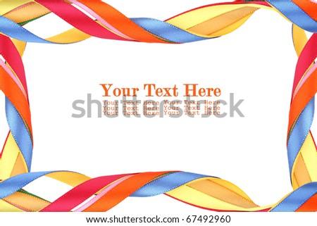 colorful ribbon isolated on white background - stock photo