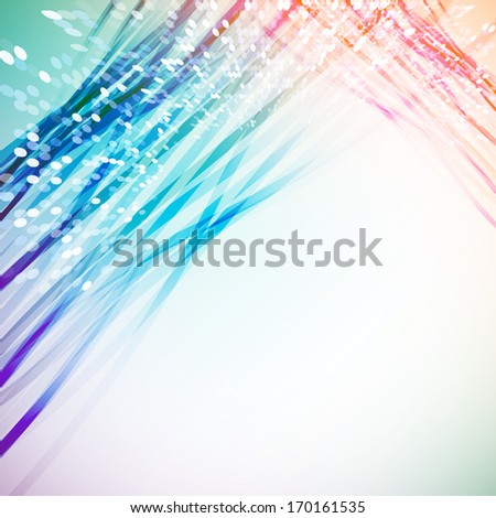 Colorful ribbons vintage background  - stock photo