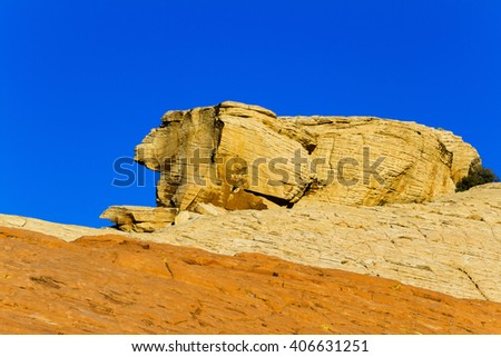 Colorful Rock Formation in desert of southern Nevada, USA - stock photo