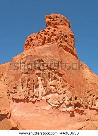 Colorful rock formation in Valley of Fire State Park, Nevada - stock photo
