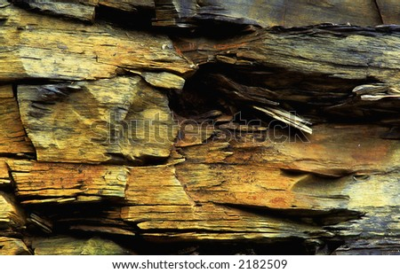colorful rock slate in the mountain. - stock photo