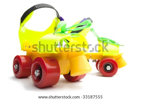 Colorful roller skate isolated on white
