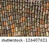 Colorful roof tiles - stock photo