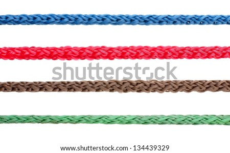 Colorful rope - stock photo