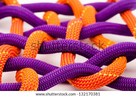 colorful rope net - stock photo