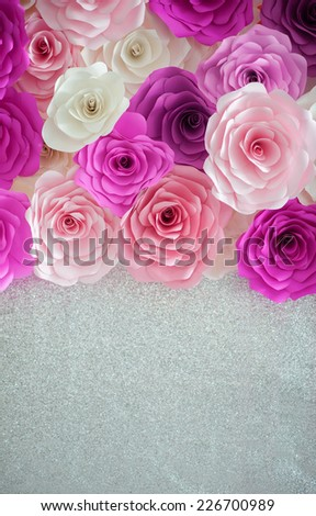 colorful roses backgrounds - stock photo