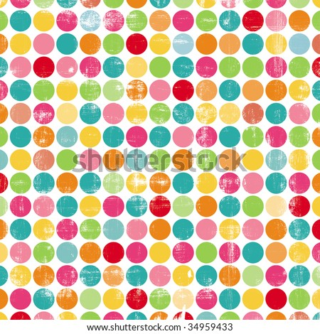Colorful Rows of Dots - stock photo